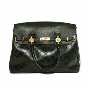 Gianni Versace black canvas handbag